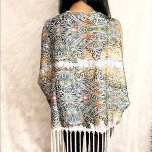 Ark & co boho paisley snake multi silky vest